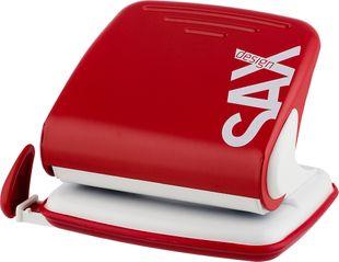 """SAX Design Locher """"418"""" für 25 Blatt rot"""