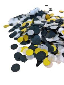 Konfetti 15 g schwarz/gold/weiß